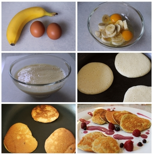 Cooking class - How to cook DIY egg and banana pancakes step by step tutorial instructions