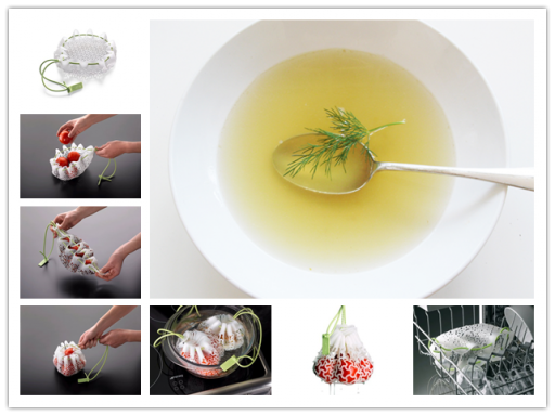 Culinary classes - How to cook tasteful clear soap with Lekue cooking mesh bag step by step DIY tuto
