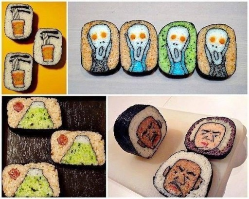 Culinary school - How to make beautiful delicisou sushi art step by step tutorial instructions & recipe thumb