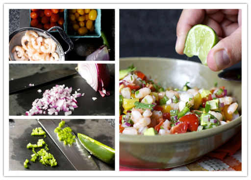 Culinary school - How to make fresh avacado and shrimp salsa step by step tutorial instructions
