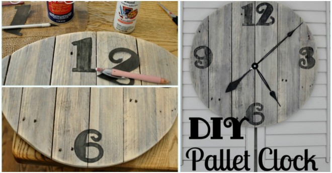 How To Make Diy Wooden Wall Clock With Used Pallets How