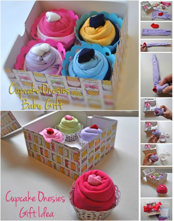 How To Make Cupcake Onesies Gift