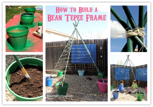 How to build a green bean tepee frame step by step DIY tutorial instructions