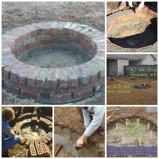 How to build a sturdy DIY brick fire pit step by step tutorial instructions