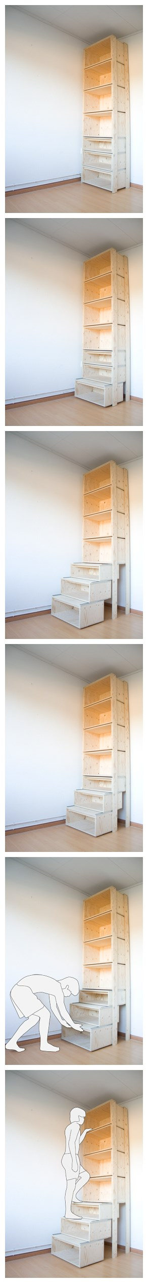 How to build efficient storage staircase DIY step by step tutorial instructions