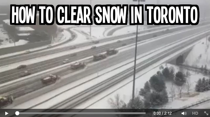 How to clear the snow on the high way in Toronto