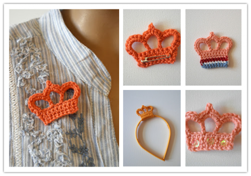 How to crochet pretty DIY crown hook step by step tutorial instructions