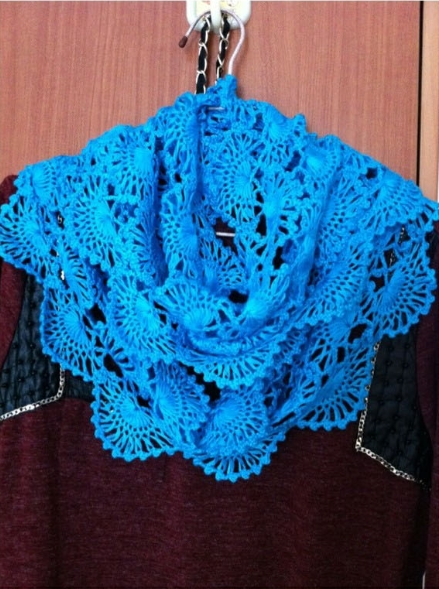 Instructions On How To Crochet : to crochet pretty lace scarf step by step DIY tutorial instructions ...