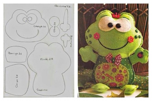 How to cute frog toy with printable patterns thumb