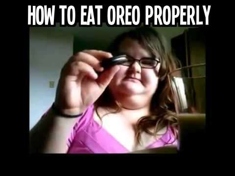 How to eat an oreo cookie properly step by step DIY tutorial instructions