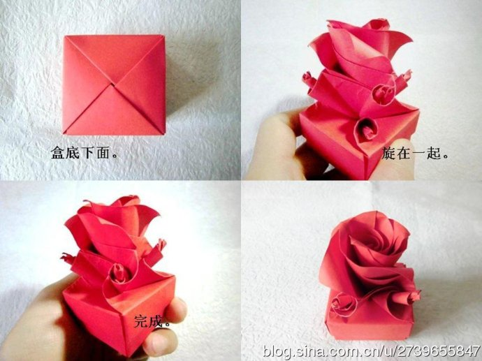 How To Fold Cute Origami Paper Craft Rose Box For Valentines Day Step By DIY Tutorial Instructions Thumb