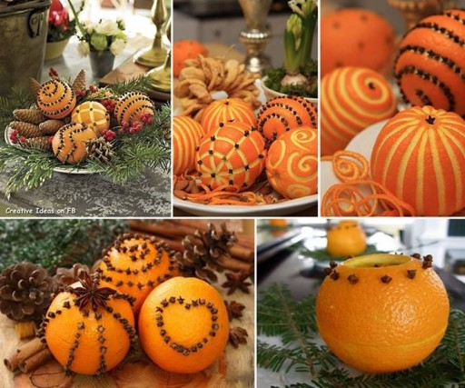 How to make DIY decorative fragrant pomander from oranges step by step tutorial instructions