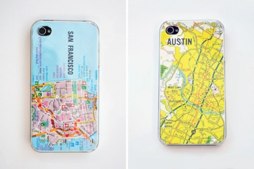How to make DIY map smartphone cases step by step tutorial instructions