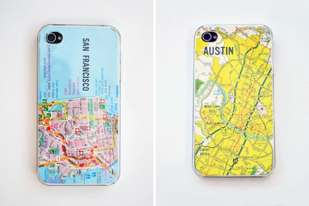 How to make diy map smartphone cases step by step tutorial for How to make a homemade phone case