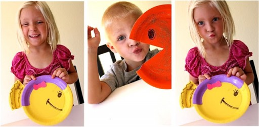 How to make DIY paper plate fish craft step by step tutorial instructions 1