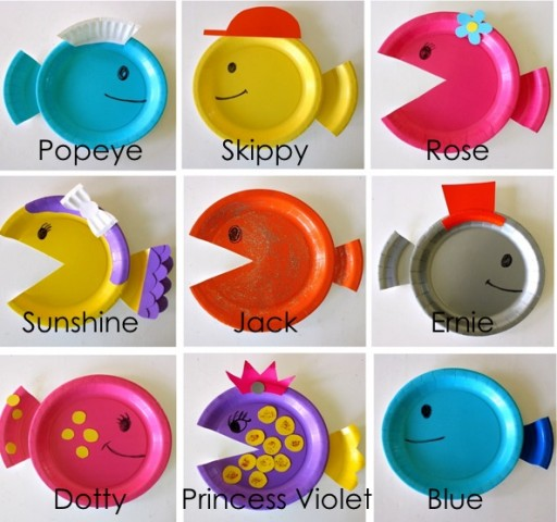 How To Make DIY Paper Plate Fish Craft Step By Tutorial Instructions 2