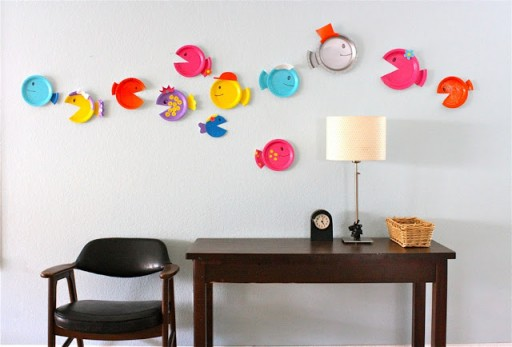 How to make DIY paper plate fish craft step by step tutorial instructions 3