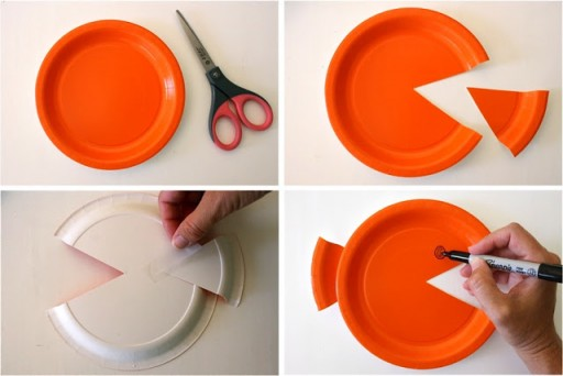 How to make DIY paper plate fish craft step by step tutorial instructions 5