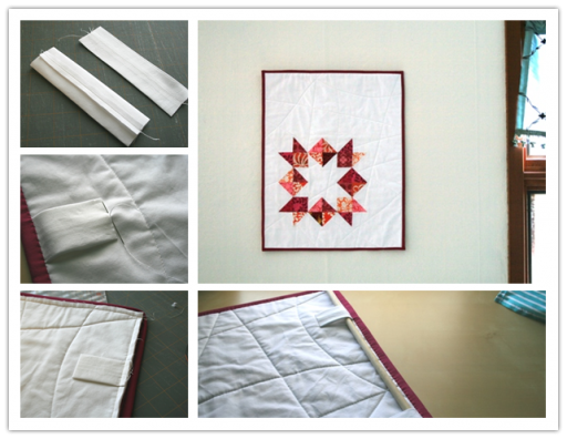 How to make DIY quilt wall hanger step by step tutorial instructions