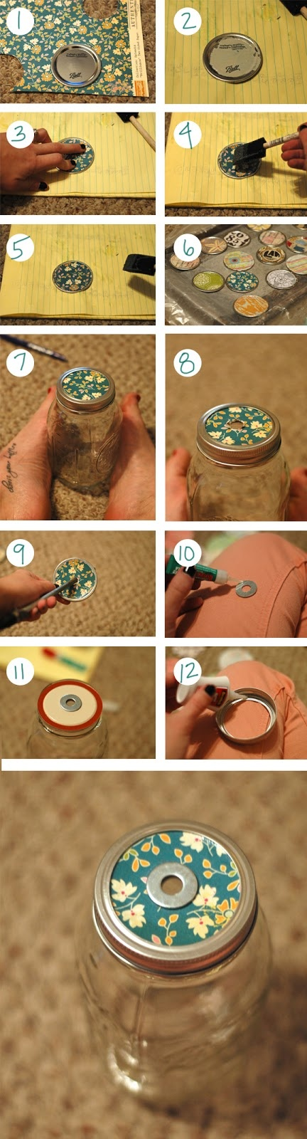 How to make DIY reusable mason jar to-go cup step by step tutorial instructions
