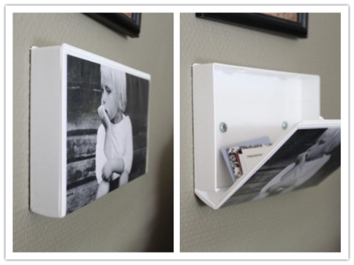 How to make DIY secret hiding storage picture frame with used VHS tape case step by step tutorial instructions