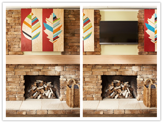 How To Make Artwork To Hide Big Screen Flat Tv Above Fireplace Step By Step Diy Tutorial