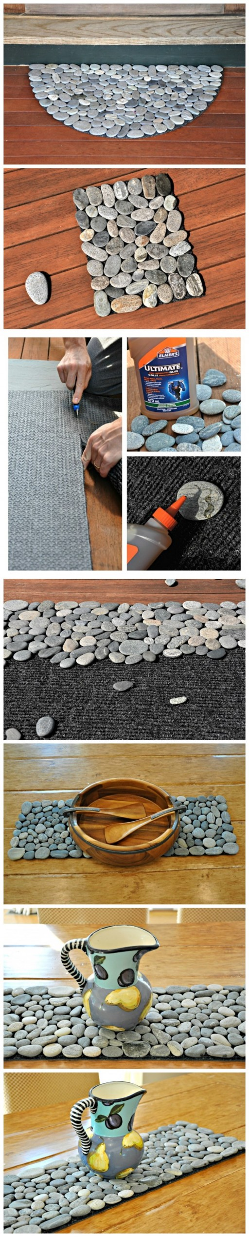 How to make awesome stone doormat step by step DIY tutorial instructions