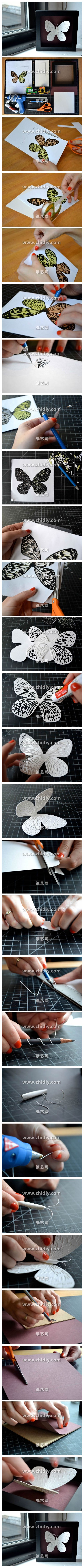 How to make beautiful DIY 3D butterfly gifts for mothers day step by step tutorial instructions