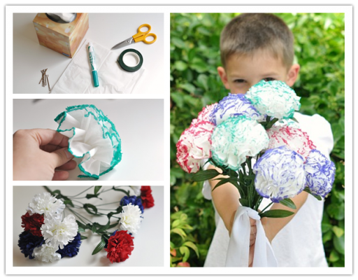 How to make beautiful DIY tissue paper flowers step by step tutorial instructions