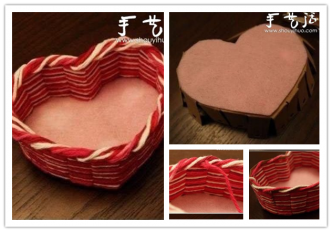 How to make beautiful handmade diy heart shaped storage for Handmade things step by step