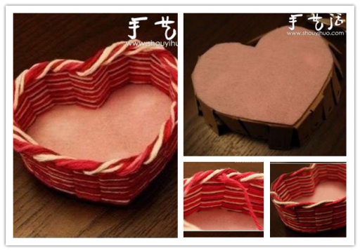 How to make beautiful handmade DIY heart=-shaped storage basket step by step tutorial instructions