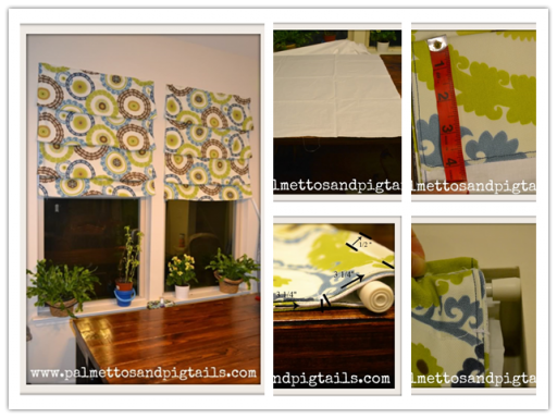 How to make beautiful simple DIY Roman curtains step by step tutorial instructions
