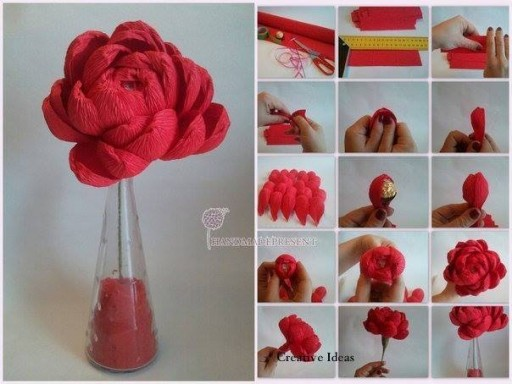 How to make candy flower step by step DIY tutorial instructions