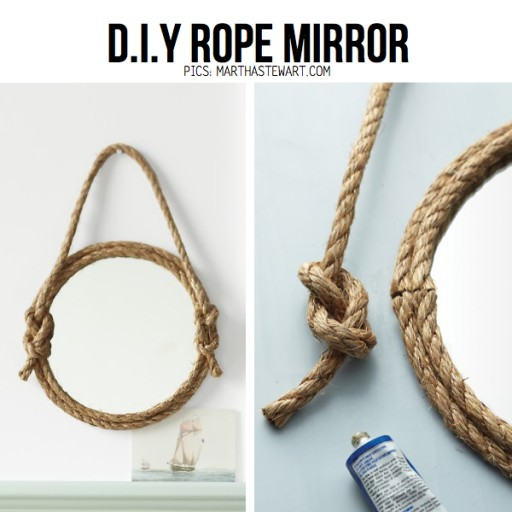 How to make cool DIY rope mirror step by step tutorial instructions