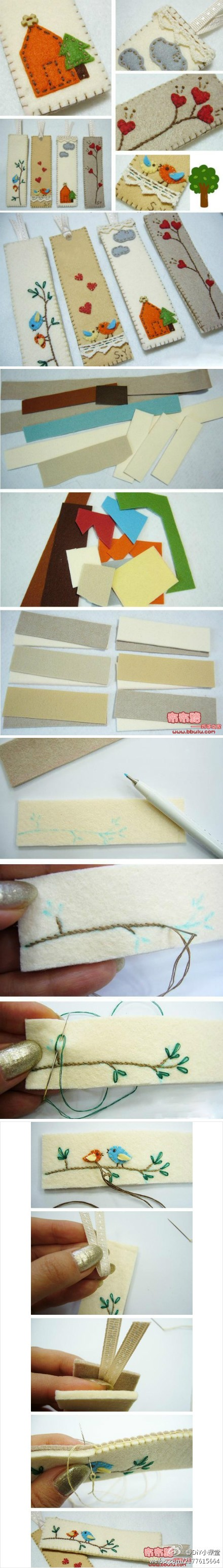How to make cute DIY bookmarks step by step tutorial instructions