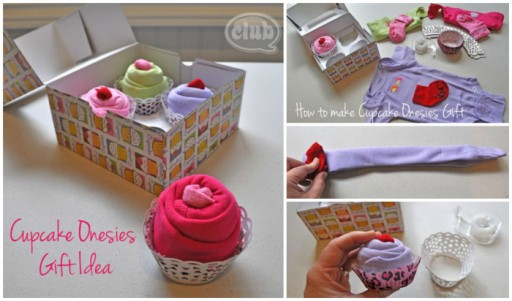 How to make cute DIY cupcake onesies gifts step by step tutorial instructions