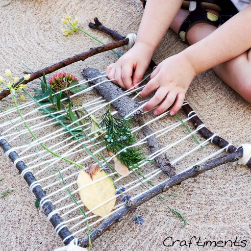How to make cute DIY natural weaving loom step by step tutorial instructions