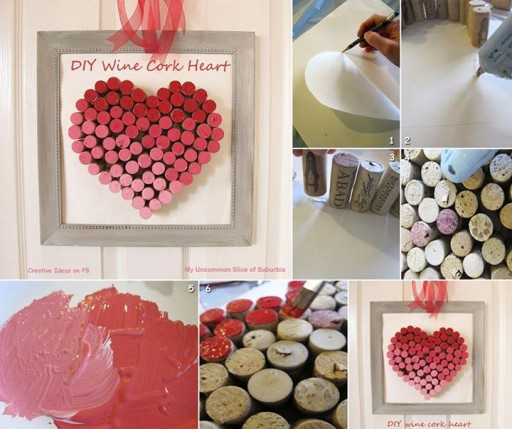 How to make cute DIY wine cork heart step by step tutorial instructions thumb