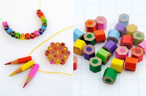 How to make cute jewelries from color pencils step by step tutorial instructions 1
