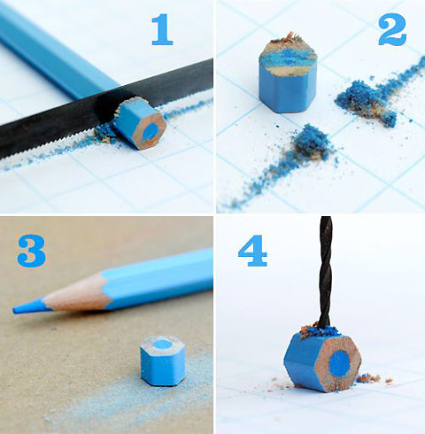 How to make cute jewelries from color pencils step by step tutorial instructions 3
