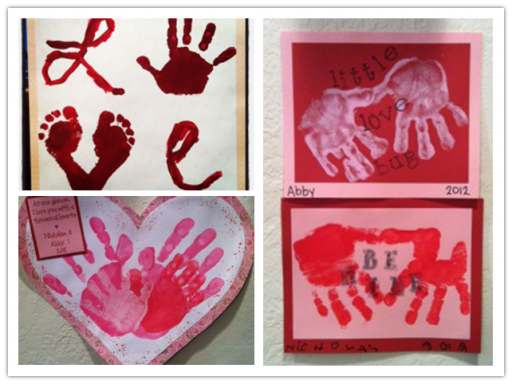 How to make cute valentine's day hand prints with kids