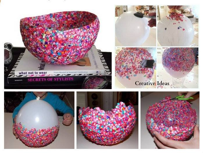 How To Make Decorative Bowls With Confetti Step By Step
