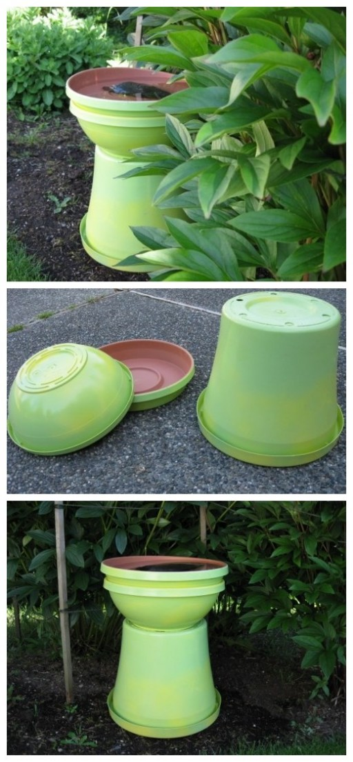 How to make garden birdbath step by step DIY tutorial instructions