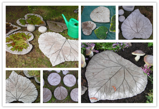How to make gorgeous DIY leave pattern bird bath or garden stepping stones step by step tutorial instructions