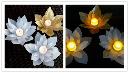 How to make pretty DIY milk jug votives step by step tutorial instructions