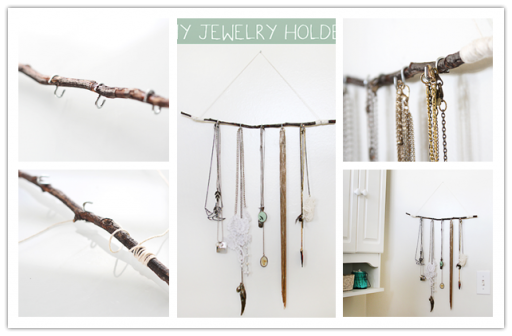 How to make rustic jewelry hanger step by step DIY tutorial instructions