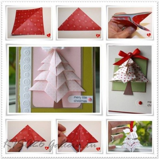 How to make simple cute holiday greeting cards step by step DIY tutorial instructions