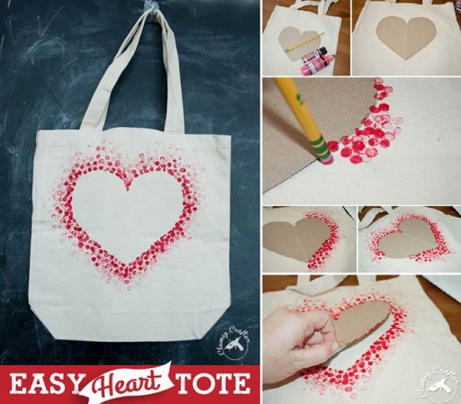 How To Make Simple Diy Heart Tote How To Instructions
