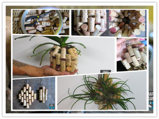 How to make special DIY cork orchid planter step by step tutorial instructions