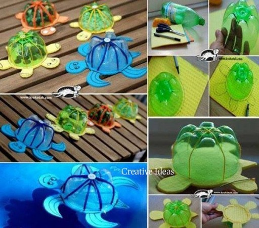 How to make turtle arts from recycled plastic bottles step ...